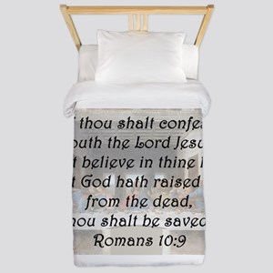 Romans 10:9 Twin Duvet