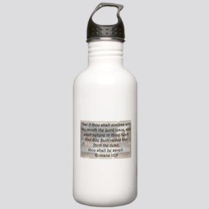 Romans 10:9 Water Bottle