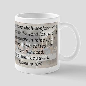 Romans 10:9 Mug