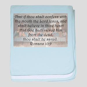 Romans 10:9 baby blanket