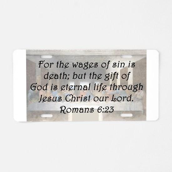Romans 6:23 Aluminum License Plate