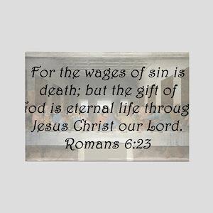 Romans 6:23 Rectangle Magnet