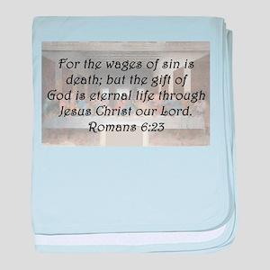 Romans 6:23 baby blanket
