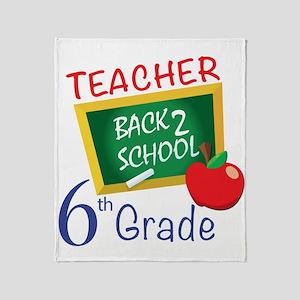6th Grade Teacher Throw Blanket