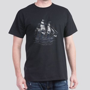 Nautical Ship Dark T-Shirt