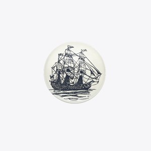 Nautical Ship Mini Button