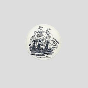 Nautical Ship Mini Button