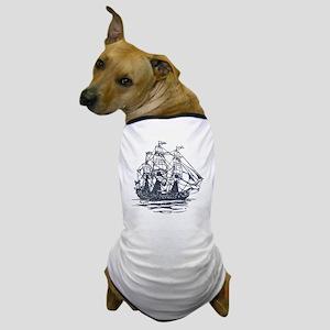 Nautical Ship Dog T-Shirt