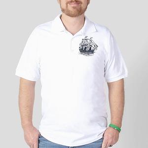 Nautical Ship Golf Shirt