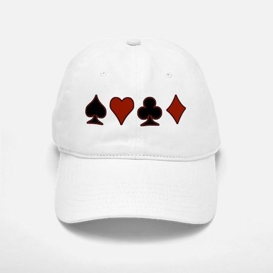 Playing Card Suits Baseball Baseball Cap