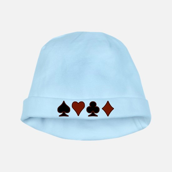 Playing Card Suits baby hat