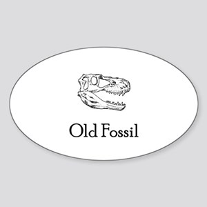 Old Fossil Oval Sticker