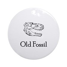 Old Fossil Ornament (Round)