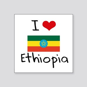 I HEART ETHIOPIA FLAG Sticker