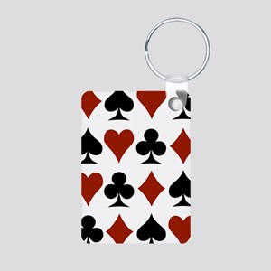 Playing Card Symbols Aluminum Photo Keychain