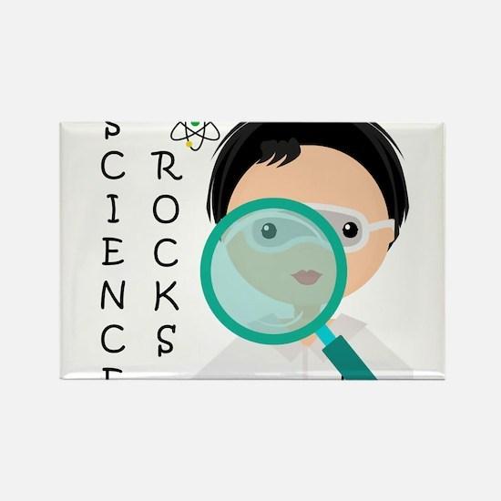 Boy Science Rocks Rectangle Magnet