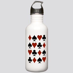 Playing Card Symbols Stainless Water Bottle 1.0L