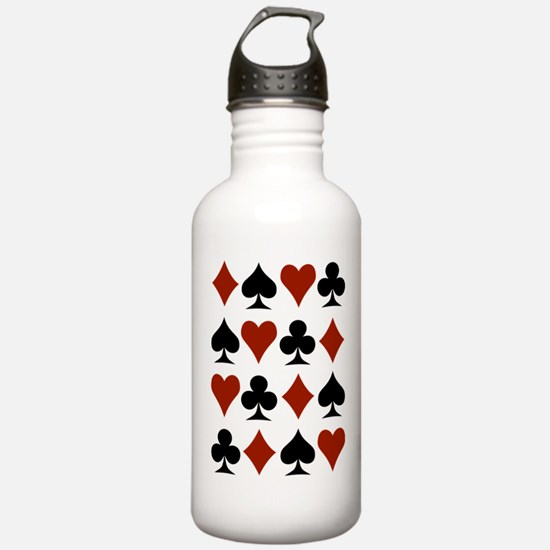Playing Card Symbols Water Bottle