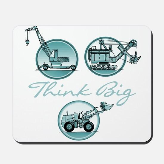 Think Big Construction Vehicles Mousepad