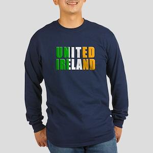 United Ireland Long Sleeve Dark T-Shirt