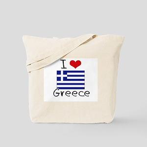 I HEART GREECE FLAG Tote Bag