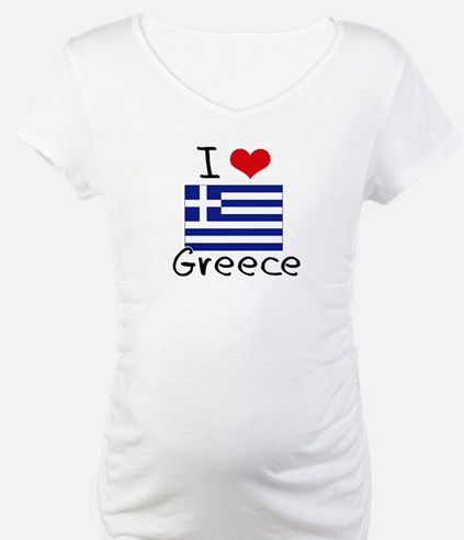 I HEART GREECE FLAG Shirt