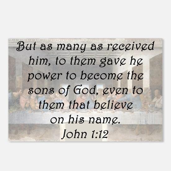 John 1:12 Postcards (Package of 8)