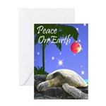 TURTLE PALM CHRISTMAS Greeting Card