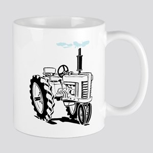 White Tractor Mug