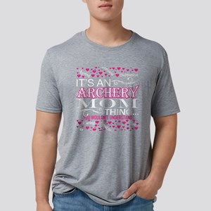 Its An Archery Mom Things Y Mens Tri-blend T-Shirt