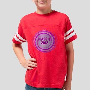 grad 2012 pink swirl Youth Football Shirt
