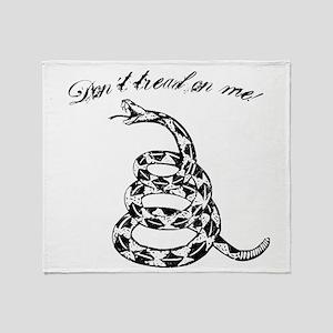 Gadsden Don´t tread on me print Throw Blanket
