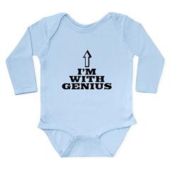 I'm with genius Long Sleeve Infant Bodysuit