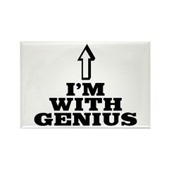 I'm with genius Rectangle Magnet (10 pack)