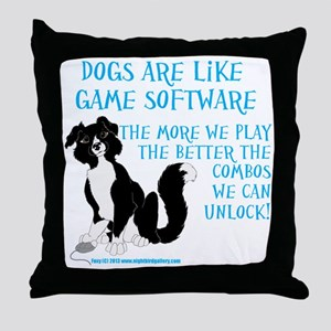 Software Border Collie Throw Pillow