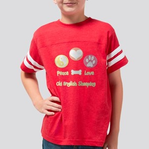 Old English SheepdogPeace Youth Football Shirt