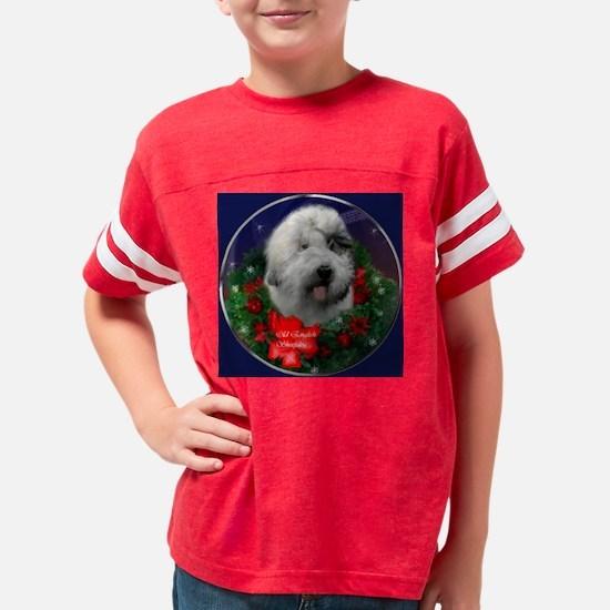 old english sheepdog square Youth Football Shirt
