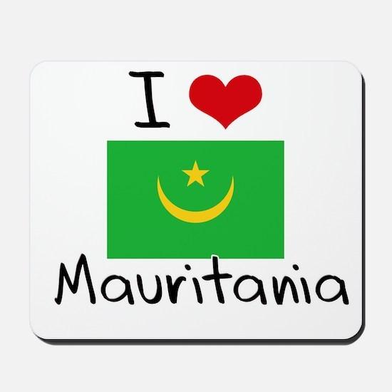 I HEART MAURITANIA FLAG Mousepad