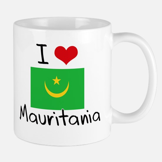 I HEART MAURITANIA FLAG Mug