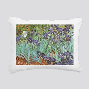 Van Gogh Irises Rectangular Canvas Pillow