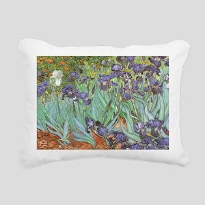 Van Gogh Irises Rectangular Canvas Pillow