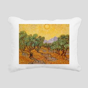 Van Gogh Olive Trees Yellow Sky And Sun Rectangula