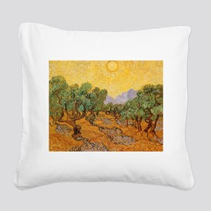 Van Gogh Olive Trees Yellow Sky And Sun Square Can