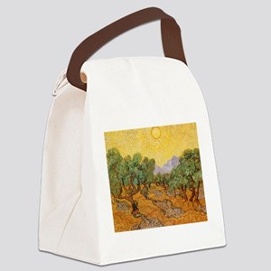 Van Gogh Olive Trees Yellow Sky And Sun Canvas Lun