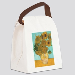 Van Gogh Vase with Sunflowers Canvas Lunch Bag