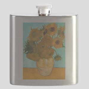 Van Gogh Vase with Sunflowers Flask