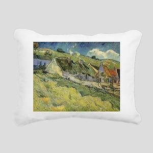 Van Gogh Thatched Cottages Rectangular Canvas Pill