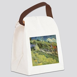 Van Gogh Thatched Cottages Canvas Lunch Bag