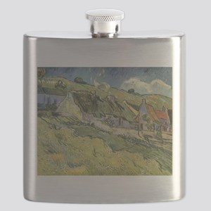 Van Gogh Thatched Cottages Flask