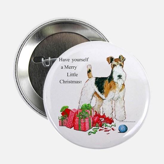 Merry Little Fox Terrier Button